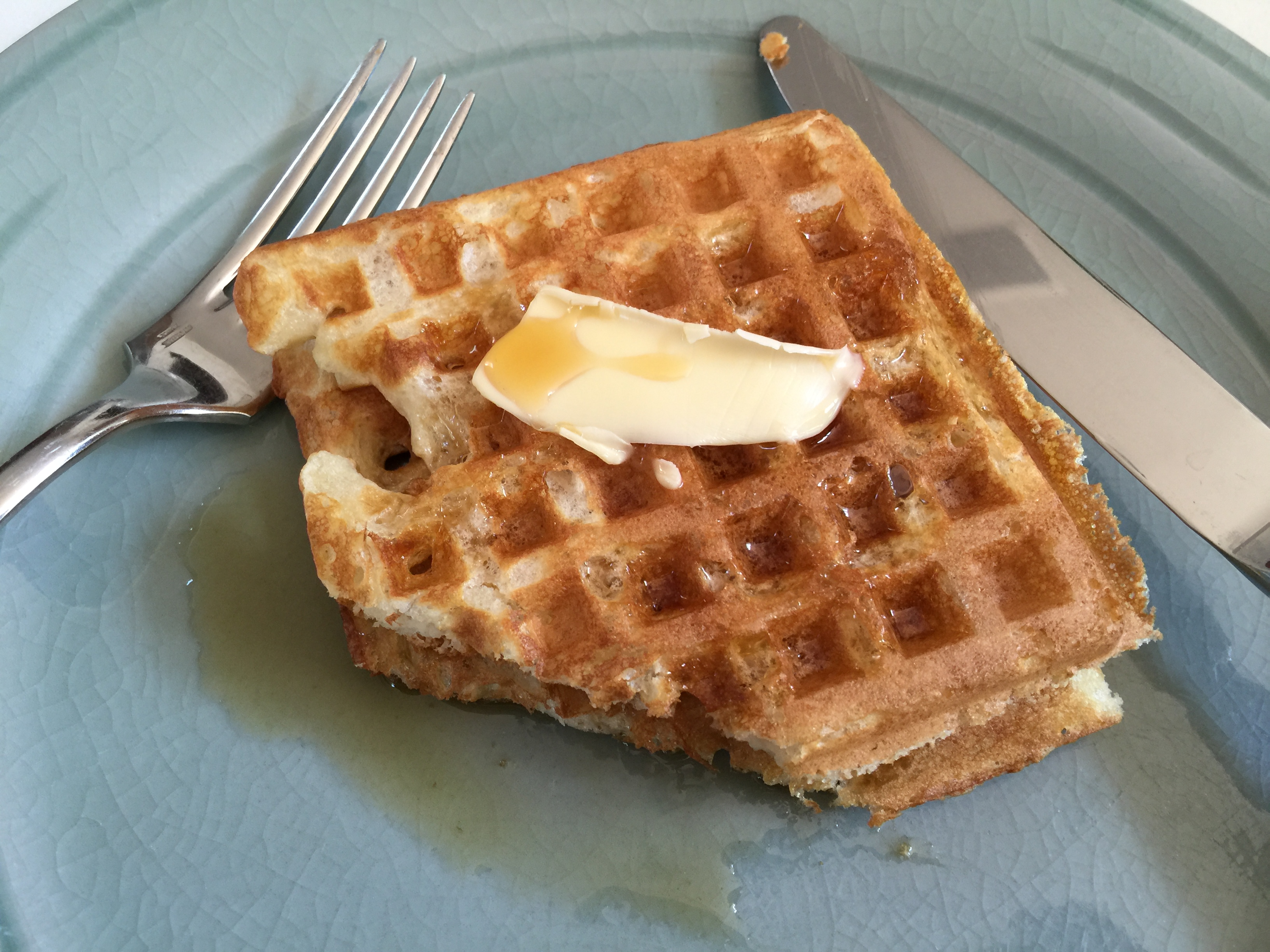 Buttermilk Waffles on Plate - CookingCoOp.com