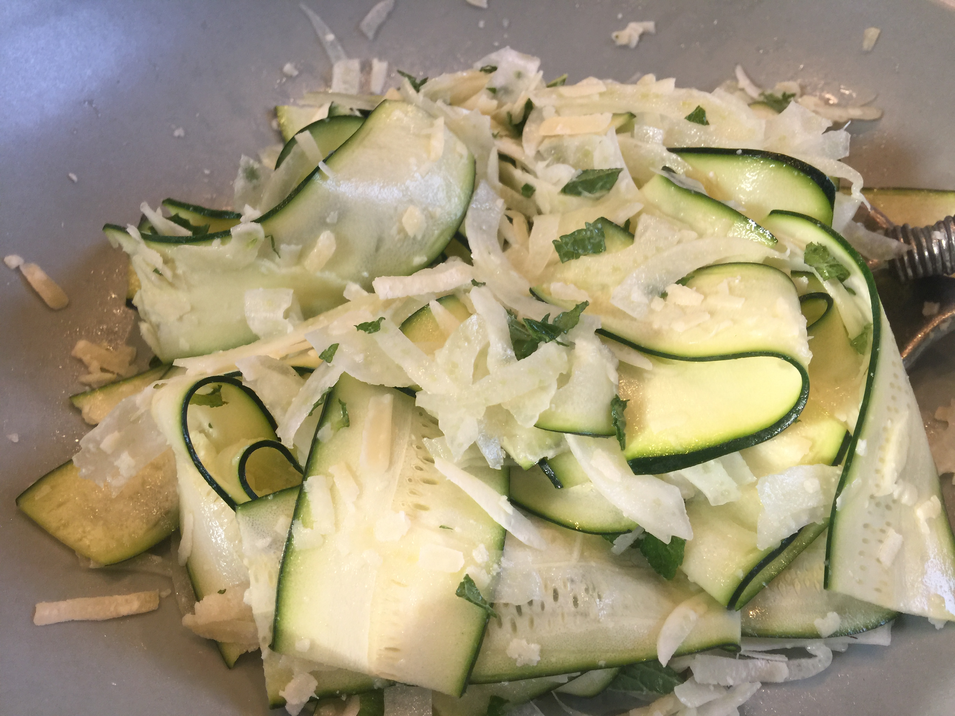 Zucchini and Fennel Salad with Pecorino and Mint - CookingCoOp.com