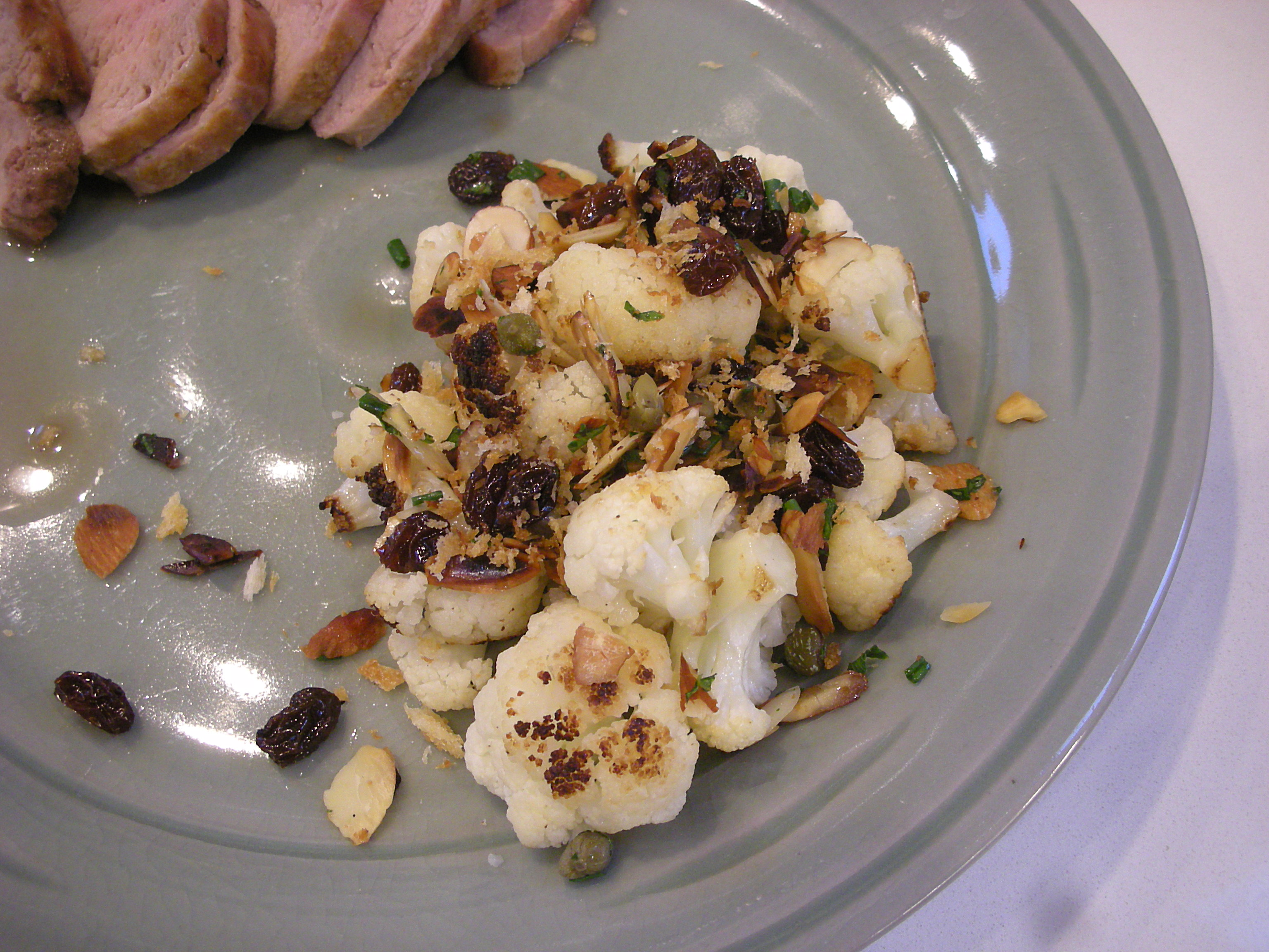 Cauliflower with Almonds, Capers, and Raisins - CookingCoOp.com