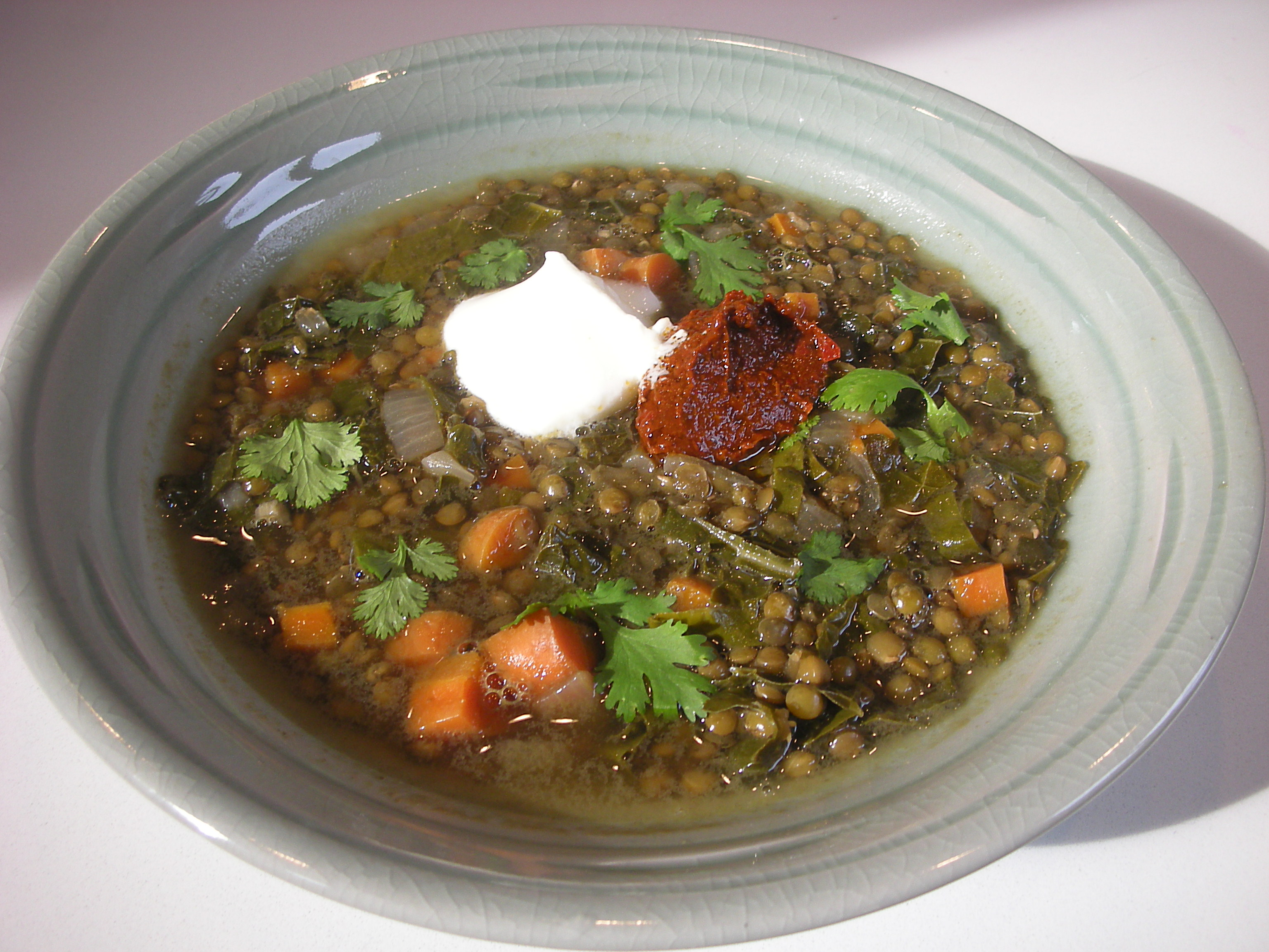 Beluga Lentil Soup with Harissa - CookingCoOp.com