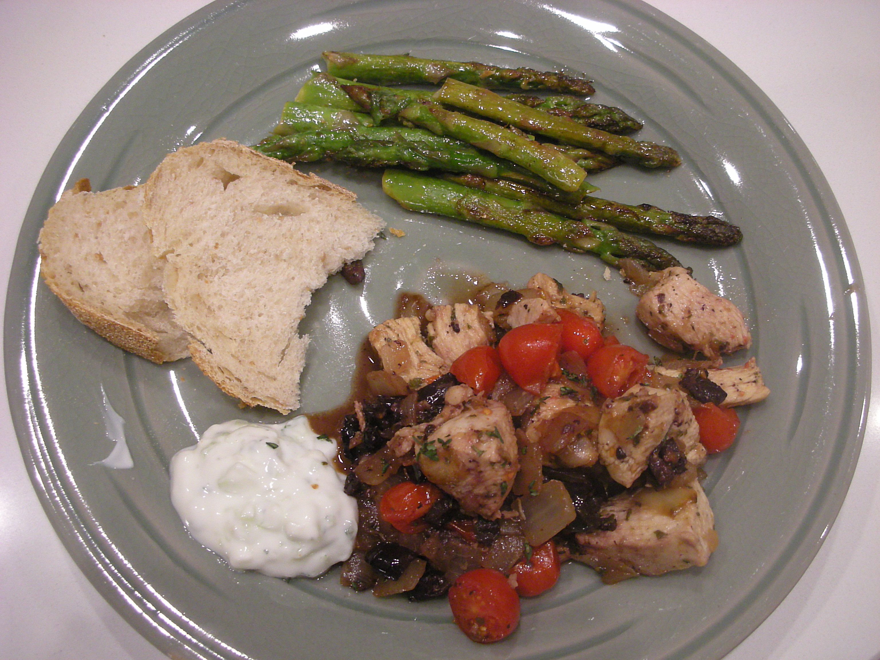 Mediterranean Chicken with Olives Oregano and Tzatziki - CookingCoOp.com
